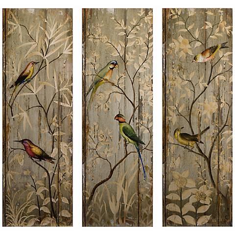 Set of 3 Calima Bird Wall Decor