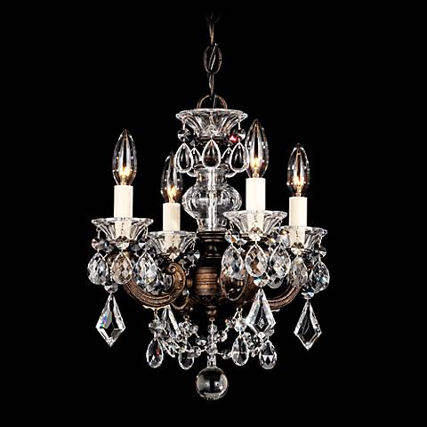 "Schonbek La Scala 12 1/2""W Spectra Crystal Mini Chandelier"