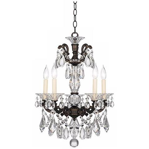 "Schonbek La Scala Collection 17"" Wide Crystal Chandelier"