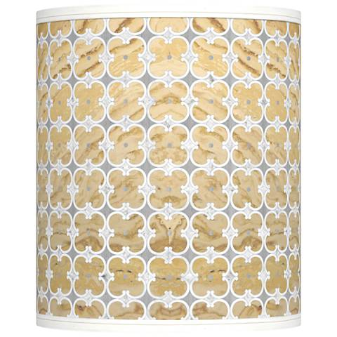 Marble Quatrefoil Giclee Shade 10x10x12 (Spider)