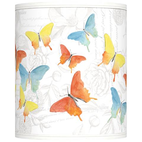Pastel Butterflies Giclee Shade 10x10x12 (Spider)