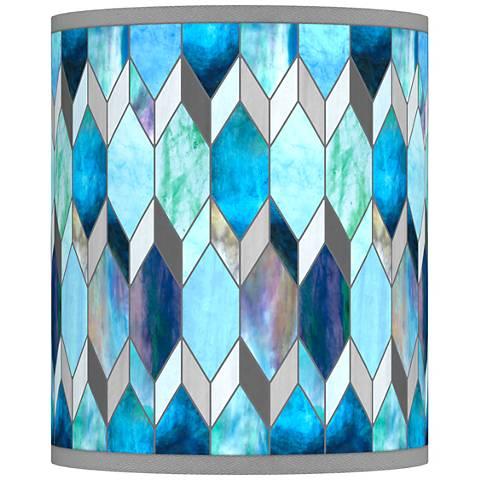 Blue Tiffany-Style Giclee Shade 10x10x12 (Spider)