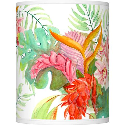 Island Floral Giclee Shade 10x10x12 (Spider)