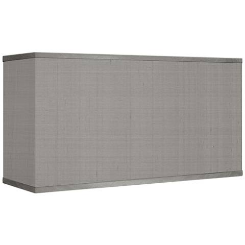 Gray Faux Silk Rectangular Shade 8/17x8/17x10 (Spider)