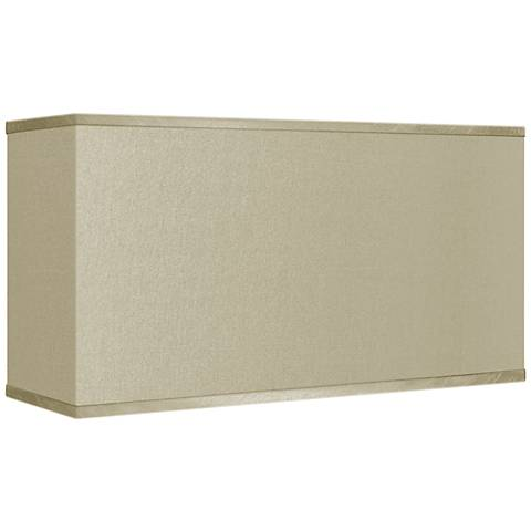 Sesame Faux Silk Rectangular Shade 8/17x8/17x10 (Spider)