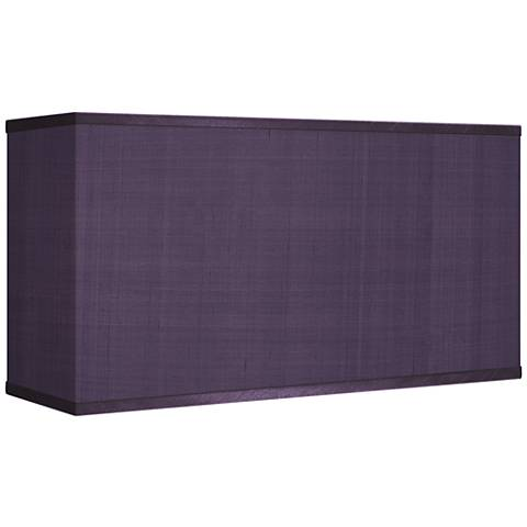 Eggplant Faux Silk Rectangular Shade 8/17x8/17x10 (Spider)