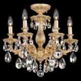 "Schonbek Milano 17"" Wide Spectra Clear Crystal Ceiling Light"