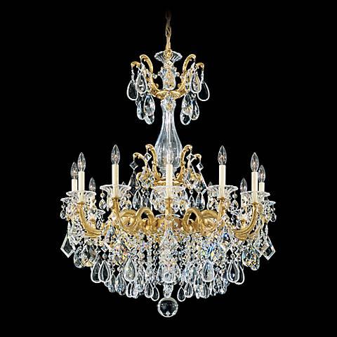 """Schonbek La Scala 33"""" Wide Spectra Crystal Chandelier"""