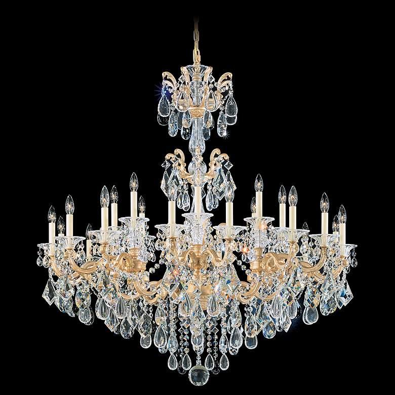 "Schonbek La Scala Collection 46"" Wide Crystal Chandelier"