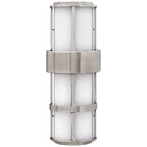 "Hinkley Saturn Steel 20 1/2"" High Outdoor Wall Light"
