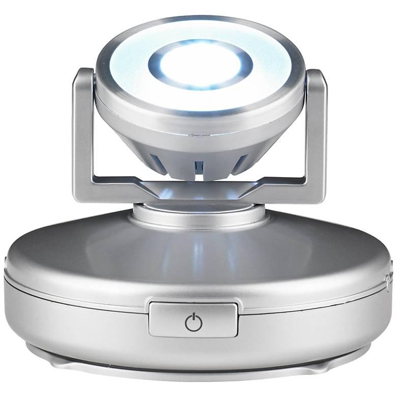 Silver High Output Battery Powered LED Spot Light