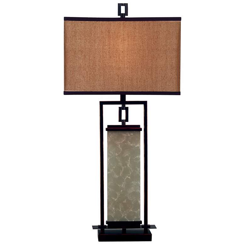 Plateau Table Lamp in an Oil-Rubbed Bronze Finish