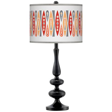 Vernaculis VI Giclee Paley Black Table Lamp