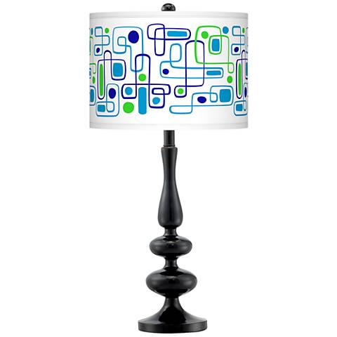 Racktrack Giclee Paley Black Table Lamp