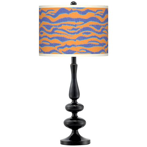 Sunset Stripes Giclee Paley Black Table Lamp