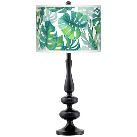 Tropica Giclee Paley Black Table Lamp