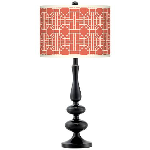 Mandarin Giclee Paley Black Table Lamp