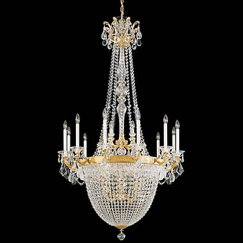 "Schonbek La Scala 38"" Wide Heritage Crystal Chandelier"