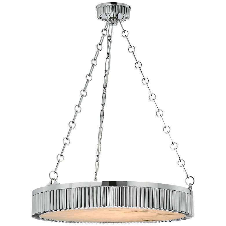 """Hudson Valley Lynden 22"""" Wide Polished Nickel Pendant Light"""
