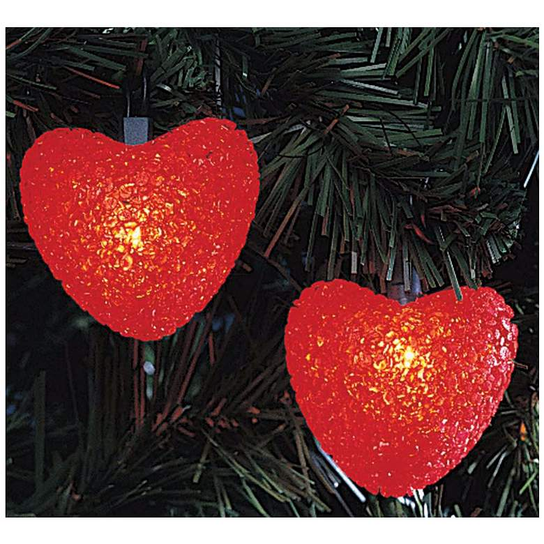Red Hearts 10-Light String of Party Lights