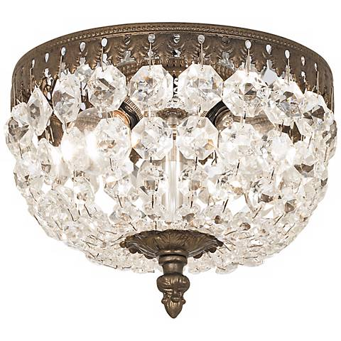 "Schonbek Rialto 8"" Wide Spectra Crystal Ceiling Light"