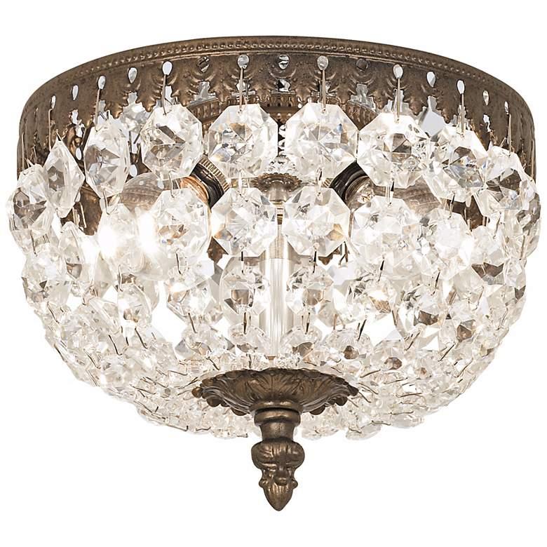 "Schonbek Rialto 8"" Wide Legacy Crystal Ceiling Light"