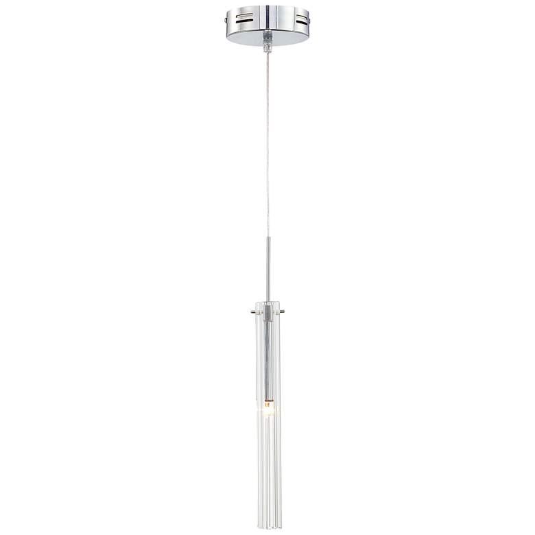 Possini Euro Design Clear Glass Tube LED Mini-Pendant Light