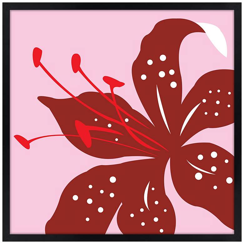 "Lily 21"" Square Black Giclee Wall Art"