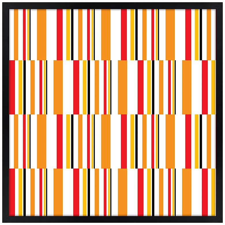"Summer Stripes 21"" Square Black Giclee Wall Art"