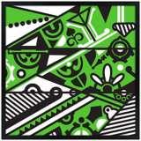 "Vibrance 26"" Square Black Giclee Wall Art"