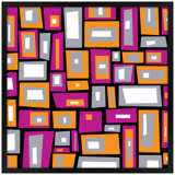 """Downtown Fields 31"""" Square Black Giclee Wall Art"""