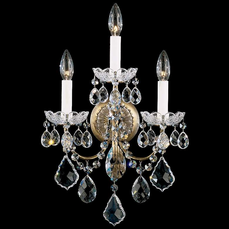 Schonbek New Orleans Collection 3-Light Crystal Wall Sconce