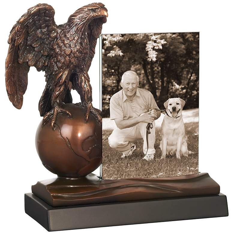 """Eagle on Globe 10"""" High Photo Picture Frame"""