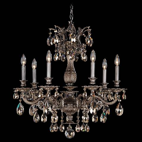 "Schonbek Milano 27"" Wide Midnight Clear Crystal Chandelier"