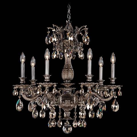 "Schonbek Milano Collection 27"" Wide Crystal Chandelier"
