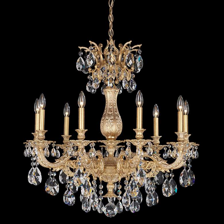 "Schonbek Milano 30"" Wide Optic Clear Crystal Chandelier"