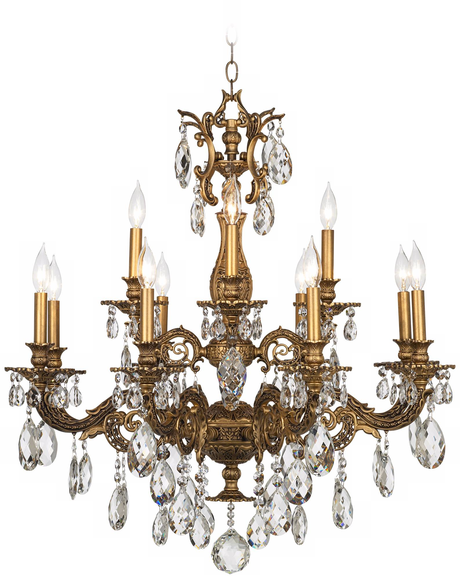 Magnificence Satin Nickel 14 1 4 Quot Wide Crystal Chandelier