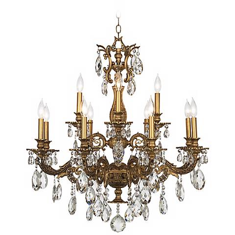 Schonbek milano 32 12w bronze swarovski crystal chandelier schonbek milano 32 12w bronze swarovski crystal chandelier aloadofball Images