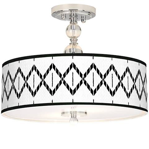 "Paved Desert Giclee 16"" Wide Semi-Flush Ceiling Light"