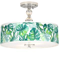 Tropical flush mount close to ceiling lights lamps plus tropica giclee 16 mozeypictures Gallery