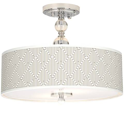 "Diamond Maze Giclee 16"" Wide Semi-Flush Ceiling Light"