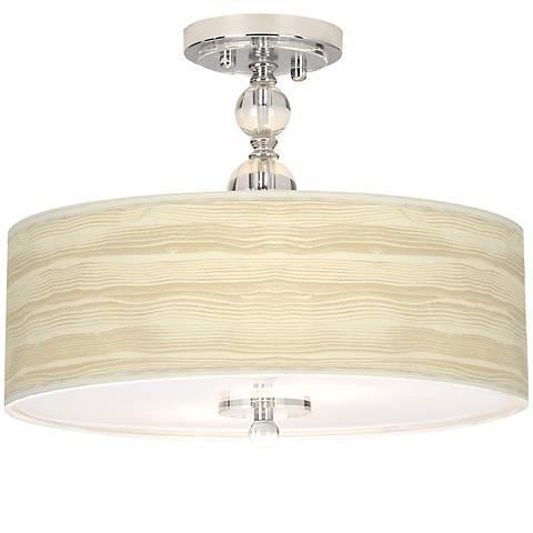 Birch blonde giclee 16 wide semi flush ceiling light