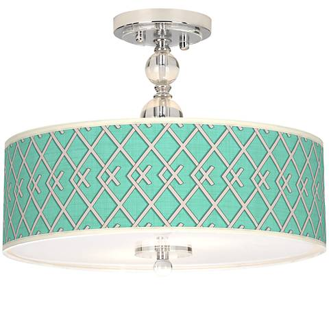 "Crossings Giclee 16"" Wide Semi-Flush Ceiling Light"