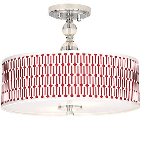 "Amaze Giclee 16"" Wide Semi-Flush Ceiling Light"
