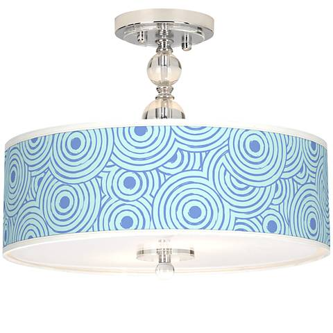"Circle Daze Giclee 16"" Wide Semi-Flush Ceiling Light"