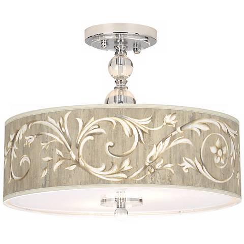 """Laurel Court Giclee 16"""" Wide Semi-Flush Ceiling Light"""
