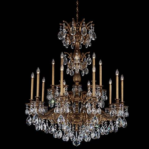 "Schonbek Milano 39"" Wide Midnight Spectra Crystal Chandelier"