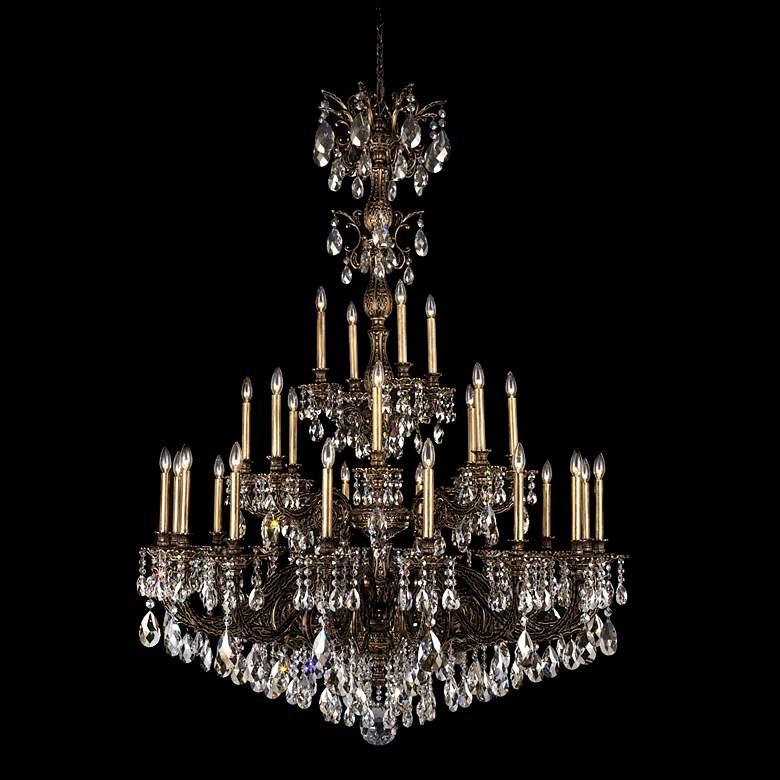 """Schonbek Milano 50"""" Wide Bronze Optic Crystal Chandelier"""