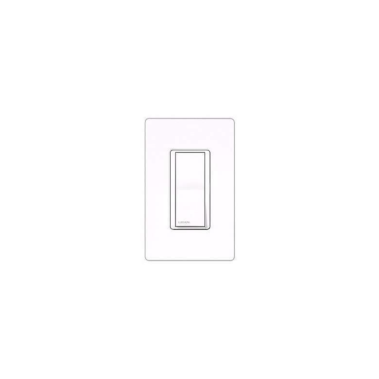 Lutron Claro White Single Pole Switch