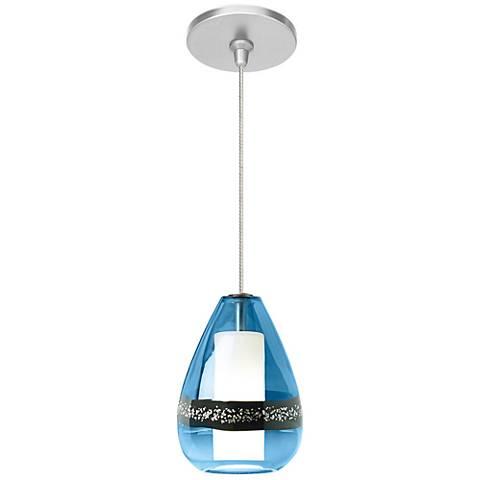 "Mini-Miyu Blue 5""W Nickel LED Fusion Jack Mini Pendant"